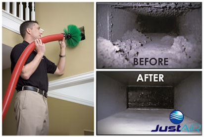 Air Ducting Cleaning Inside a House Arizona Scottsdale Fountain Hills